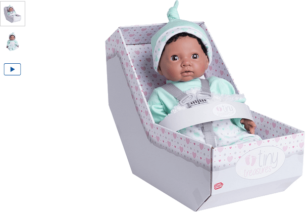 chad valley tiny treasures newborn doll with aqua outfit