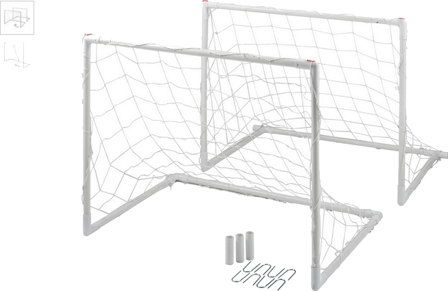 Chad Valley Twin Soccer Goal Set