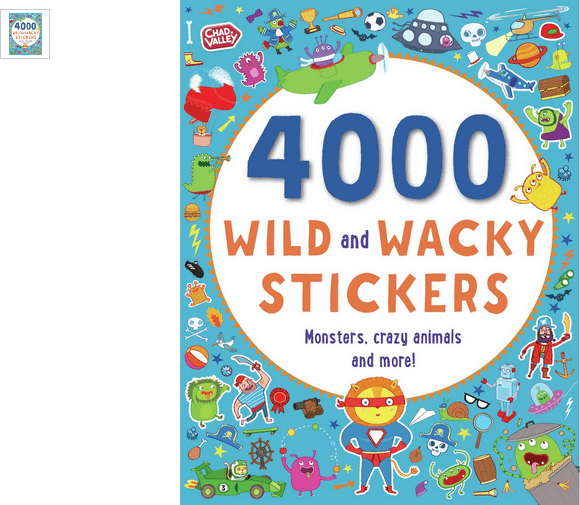 chad valley wild and wacky 4000 sticker book