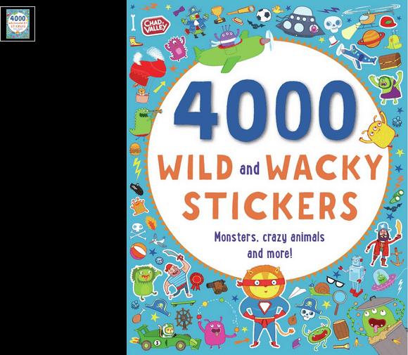 chad valley wild and wacky 4000 sticker book