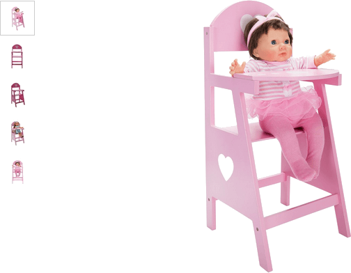 chad valley wooden dolls highchair