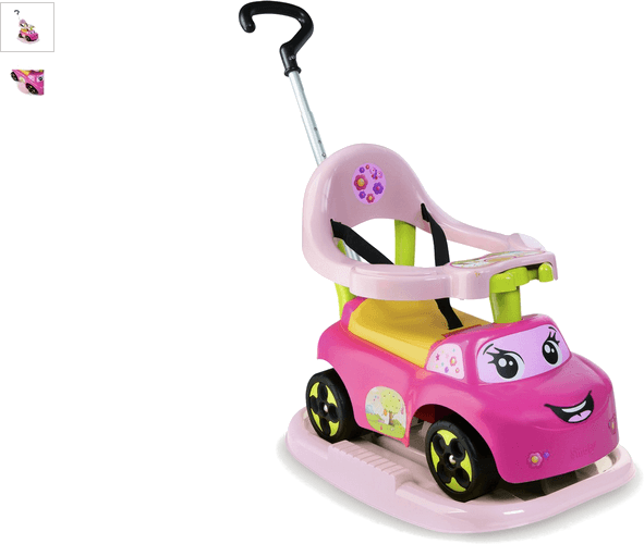 smoby auto bascule - rose