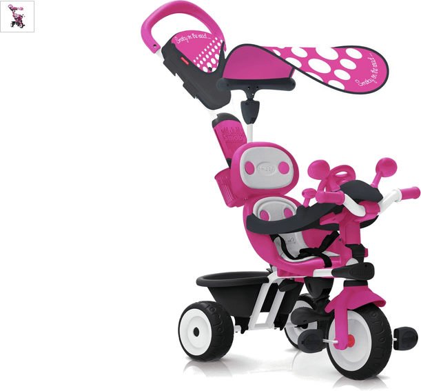 smoby baby driver comfort - pink