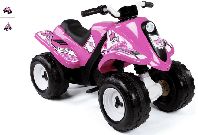 smoby electric quad  bike - rose