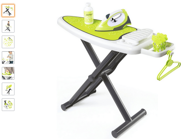 smoby ironing board with iron