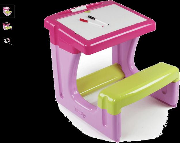 smoby little pupils desk - pink